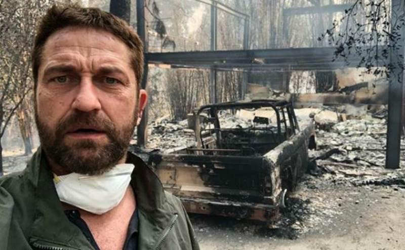 Страшный пожар в Калифорнии уничтожил дома Майли Сайрус и Джерарда Батлера
