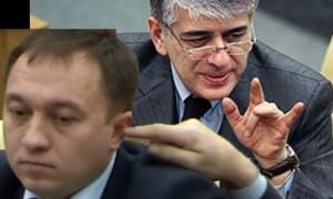 В Госдуме объяснили  палец депутата  в ухе другого