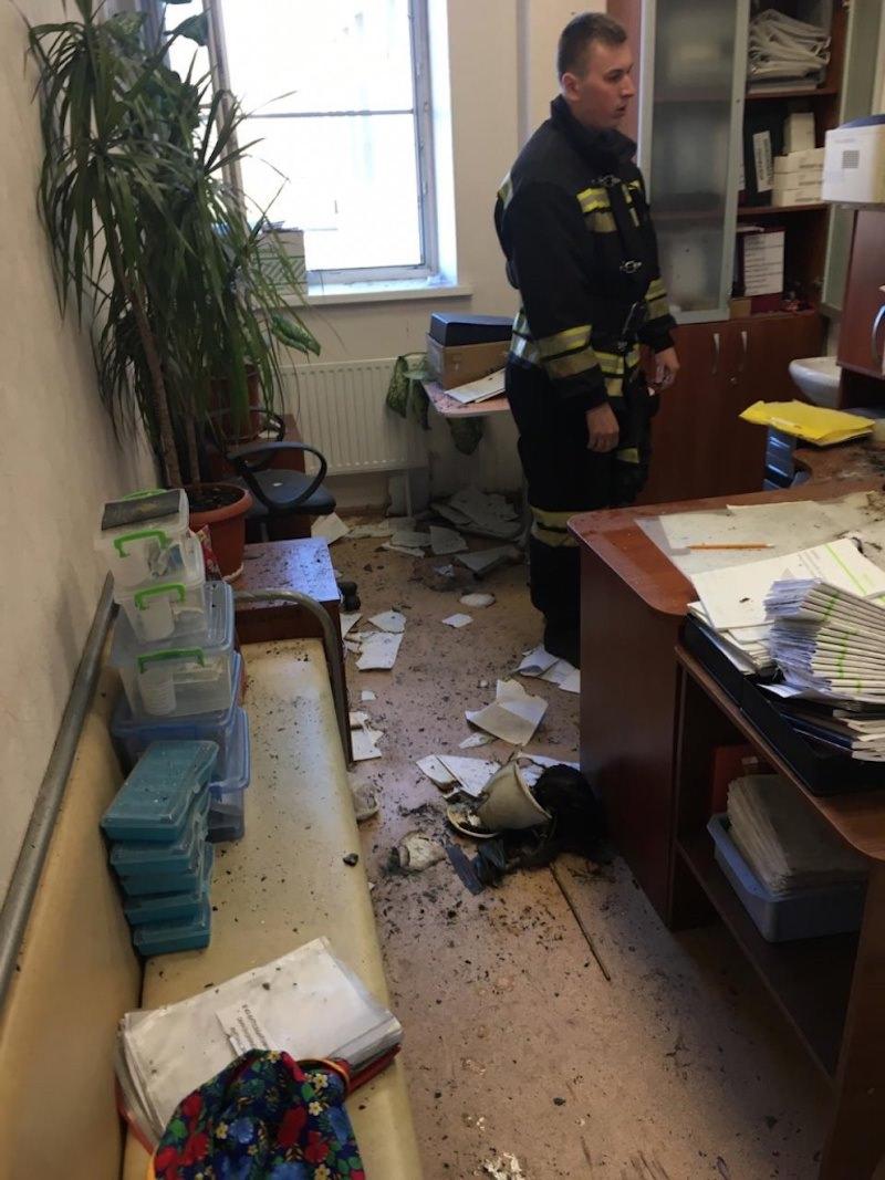 Место происшествия после приезда пожарных