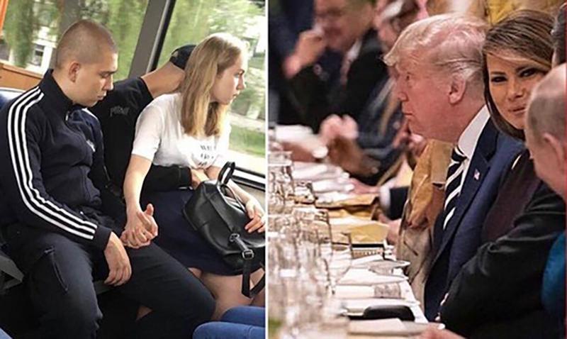 Фото, на котором Меланья Трамп улыбается Путину, стало мемом