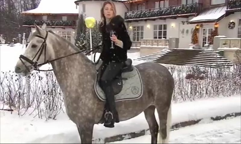 Поклонская на коне поздравила россиян с Новым годом