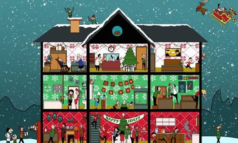 Новогодняя головоломка: найди индеек к Рождеству