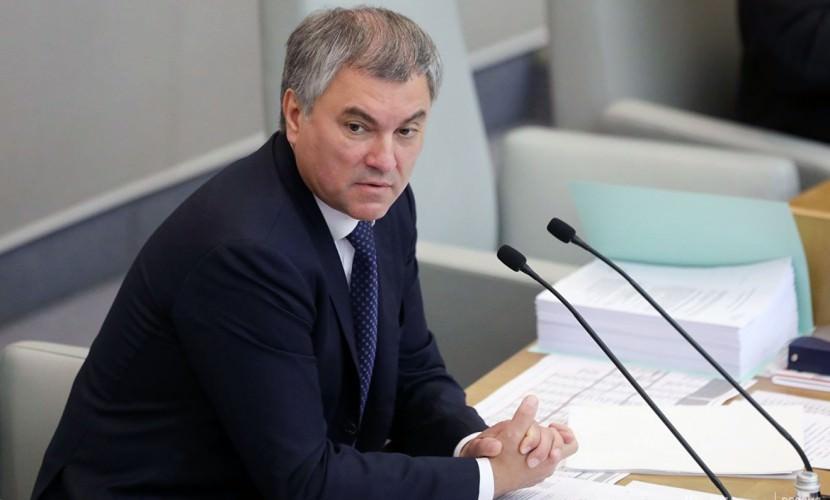 Спикер Госдумы призвал коллег принимать больше законов прямого действия