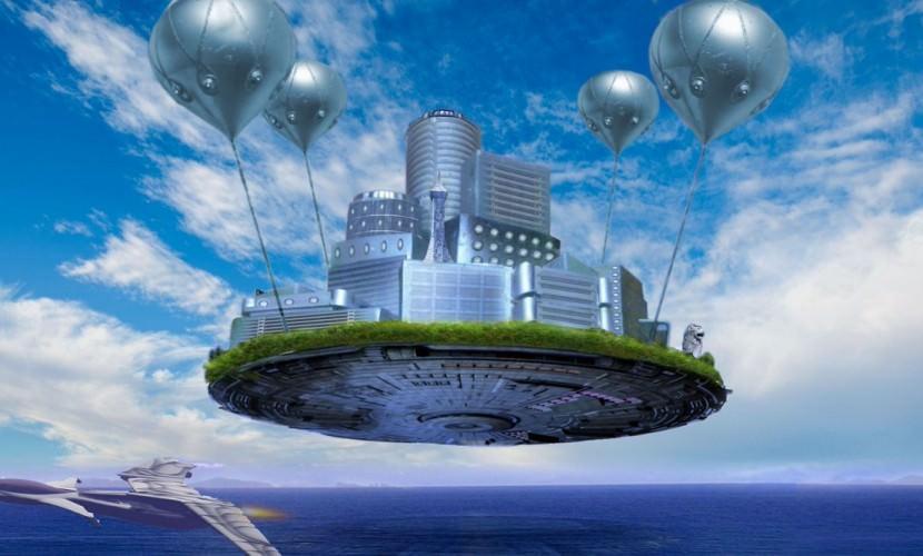 Реклама будущего в небе - Блокнот