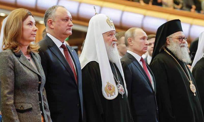 Дружба России и Молдовы: Игорь Додон встретился в Москве с патриархом и президентом Путиным