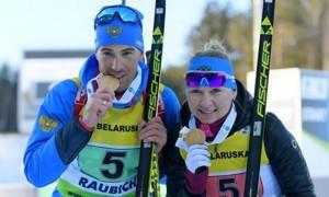 Российские биатлонисты выиграли первое золото на чемпионате Европы