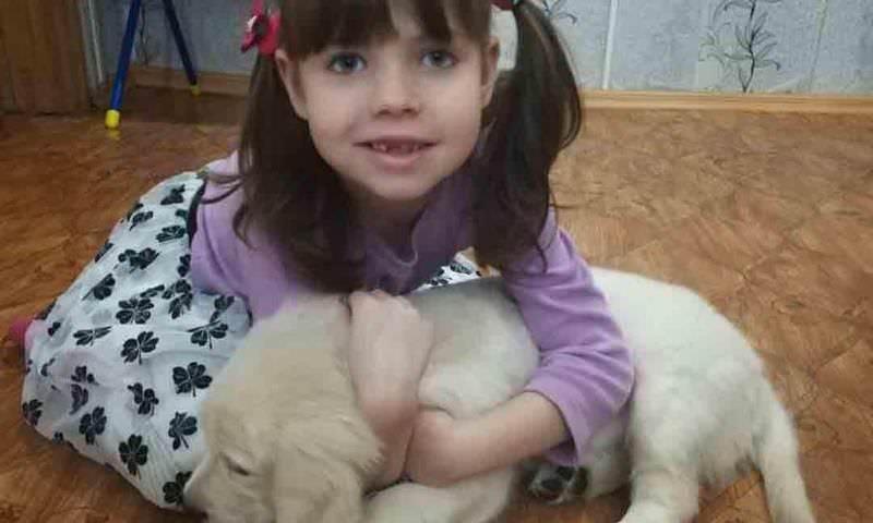 """Путин подарил щенка """"особенной"""" девочке из Приморья"""
