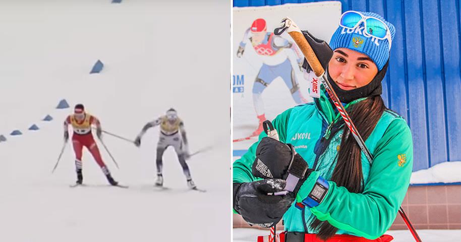 Российская лыжница ударила соперницу палкой, но не помогло