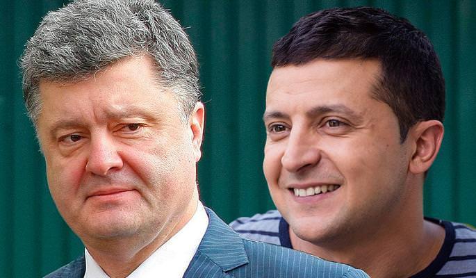 Экзит-поллы: во второй тур  выборов на Украине прошли Зеленский и Порошенко