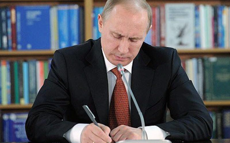 Путин подписал указ о премировании за успехи на школьных олимпиадах