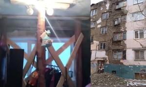 Чиновники отремонтировали «неаварийный дом» балками и брёвнами