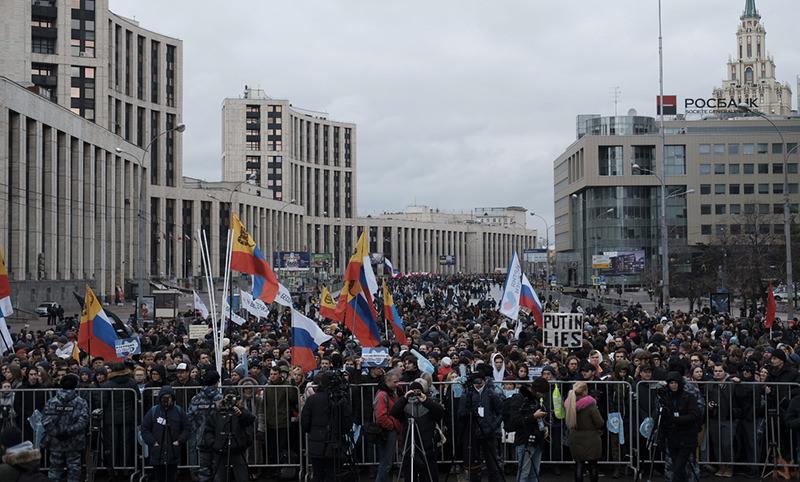 В Москве проходит митинг  «против изоляции  российского интернета»