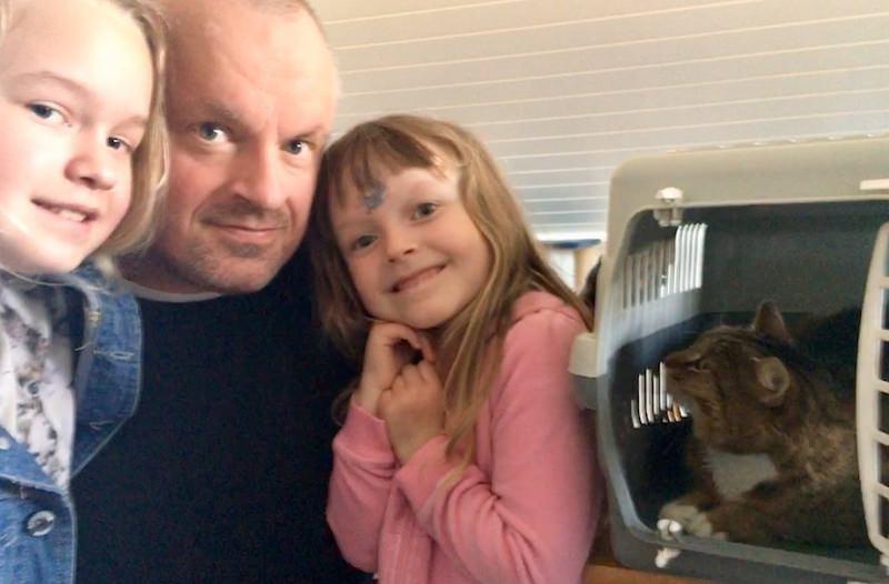 Кошка-беглянка вернулась домой через восемь лет