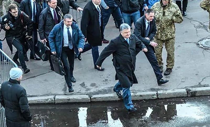 Порошенко сбежал с митинга в Житомире