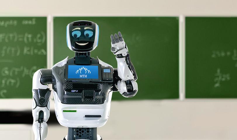 Сотрудник института робот Алантим готовит школьников к ЕГЭ