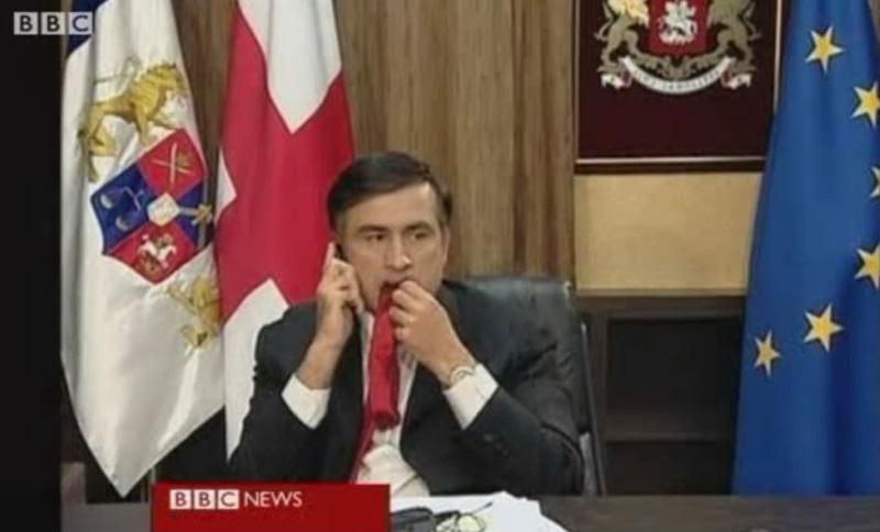 Саакашвили объяснил, почему жевал гаслтук в 2008 году