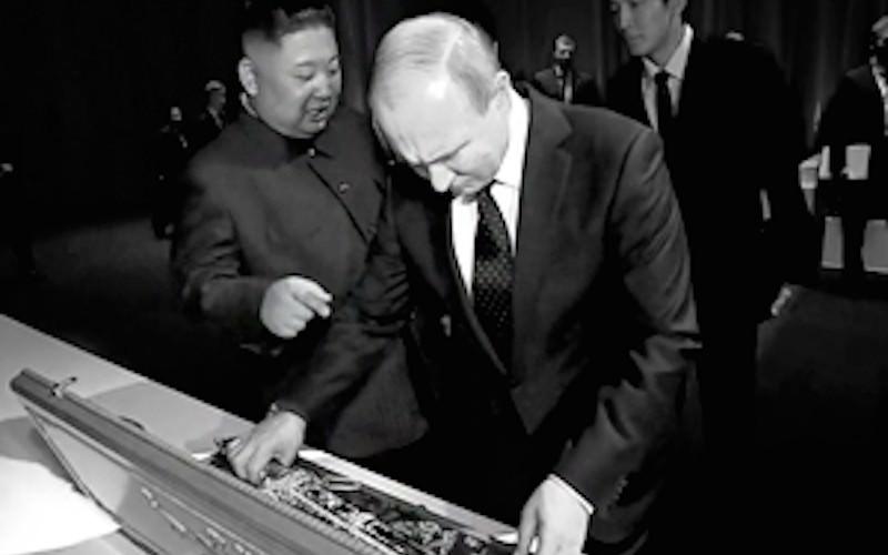 """Ким Чен Ын """"продал"""" Путина именной меч за монетку"""