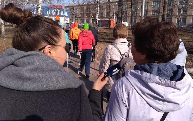 Жители России пройдут 27 миллионов шагов ко Дню Победы