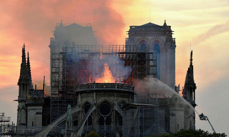 Собор Парижской Богоматери потушили