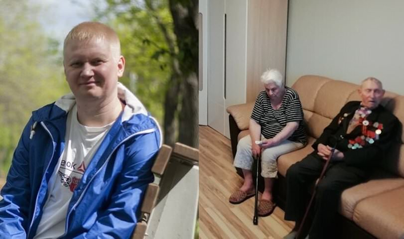 Житель Екатеринбурга с друзьями сделал бесплатный ремонт ветеранам войны