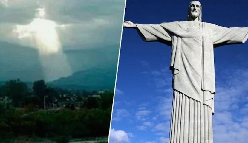 Земляне увидели Христа, спускающегося с небес