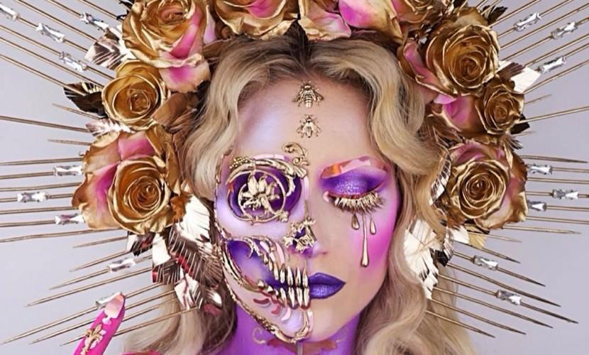Страшно красиво: английский визажист рисует на своем лице шедевры