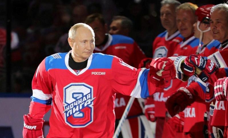 Путин забросил 10 шайб  в гала-матче Ночной  хоккейной лиги