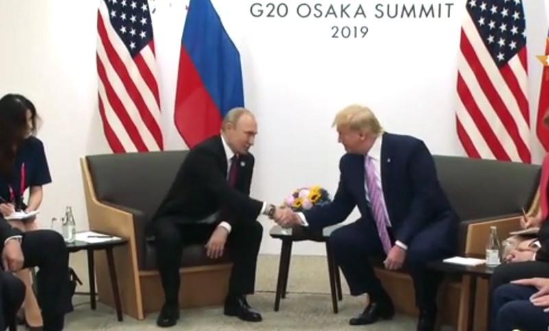 Путин встретился с Трампом  на полях G20