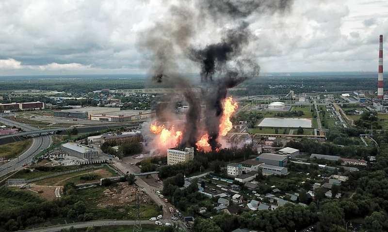 В Подмосковье горит Северная ТЭЦ