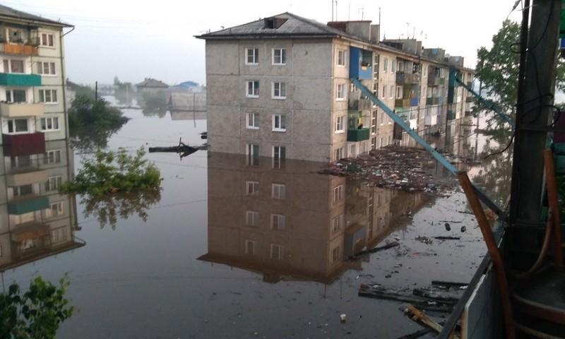Вода снова хлынула в иркутский Тулун