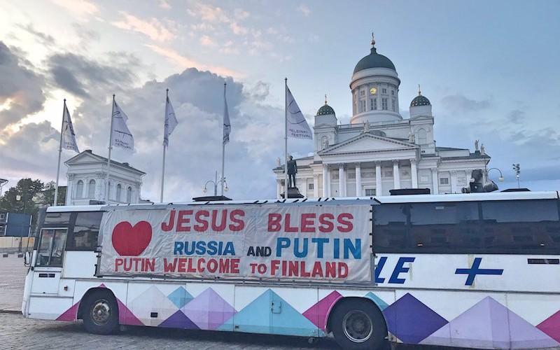 Хельсинки встречали Путина