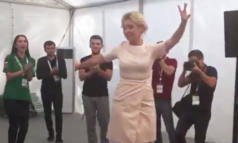 Мария Захарова станцевали лезгинку в Пятигорске