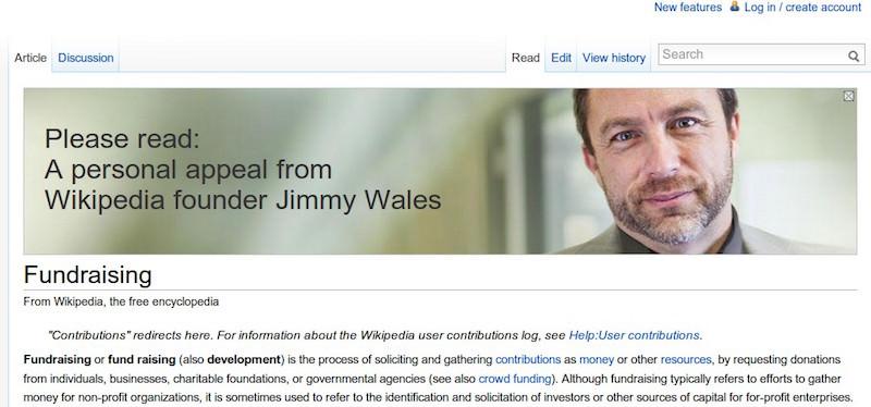 Википедия jimmy wales fundraising