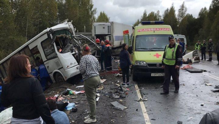 Жуткая авария под Ярославлем:  9 погибших, 20 госпитализированы