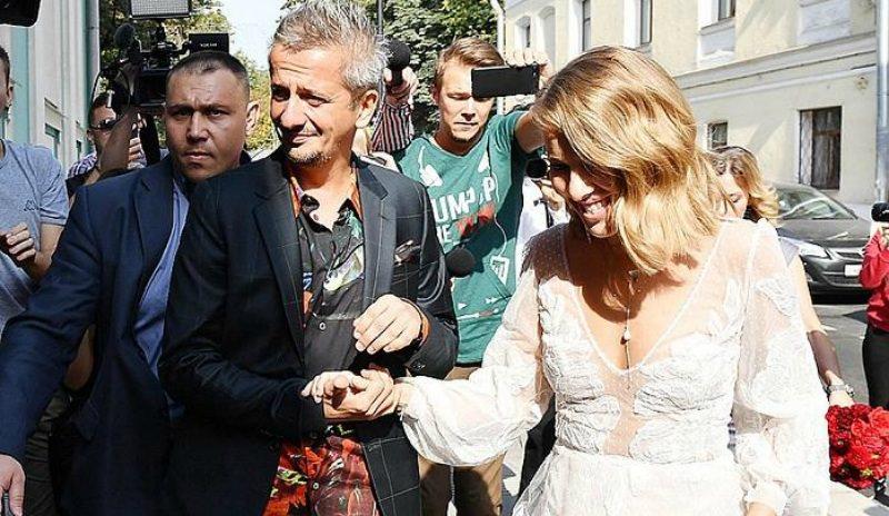 Катафалк, платье и венчание: свадьба Ксении Собчак