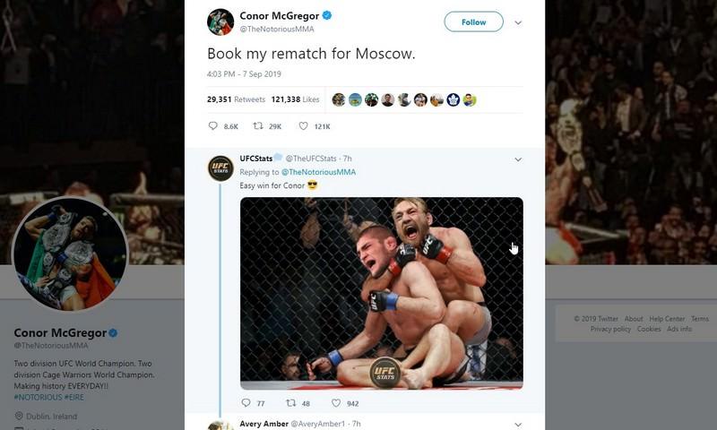 Макгрегор захотел победить Хабиба в Москве