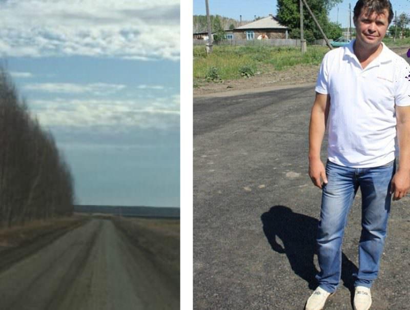 Омский фермер продолжает благоустраивать местные дороги