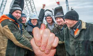 Со строителями Крымского моста до сих пор не расплатилась