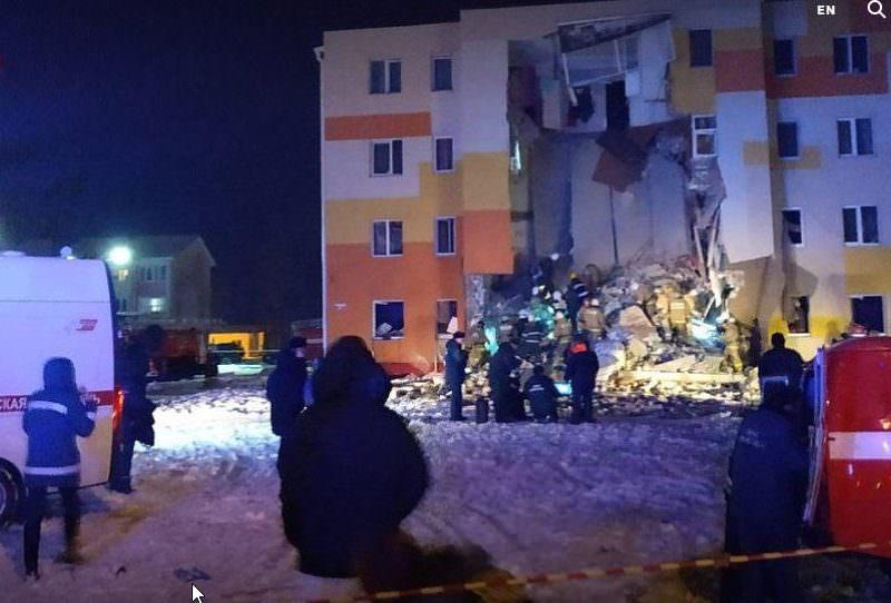 Под Белгородом произошло обрушение дома из-за взрыва бытового газа