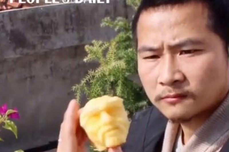 Художник не просто съел яблоко, а создал произведение