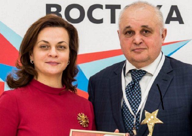Губернатор Кемеровской области наградил свою жену медалью «За служение Кузбассу»