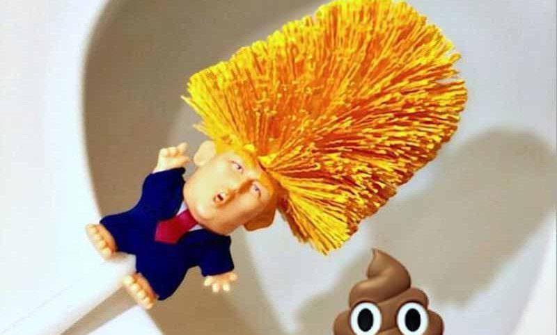 Китайский магазин Али Экспресс отправил Трампа чистить унитаз