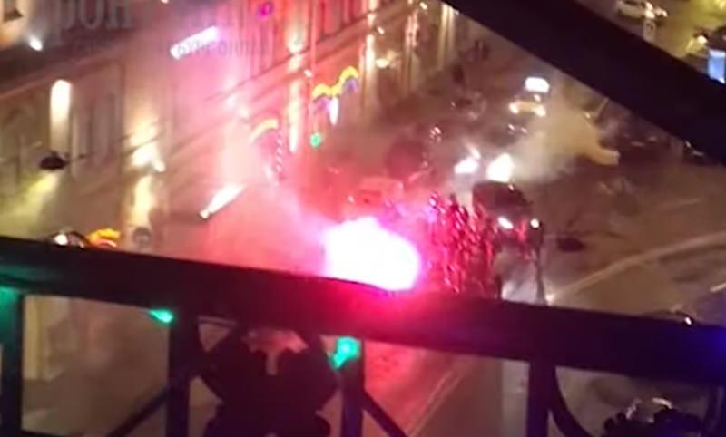 Полиция возбудила уголовное дело из-за акции с дымовыми шашками в центре Петербурга