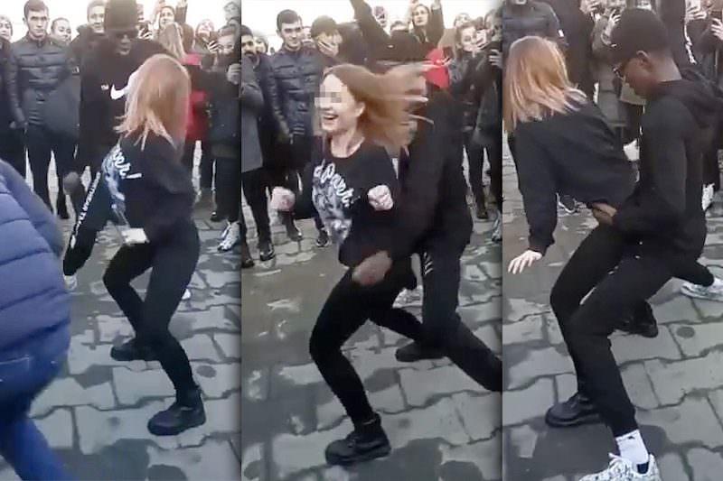 """Пришлось извиняться: темнокожего студента обвинили в """"грязных танцах"""" с осетинкой"""