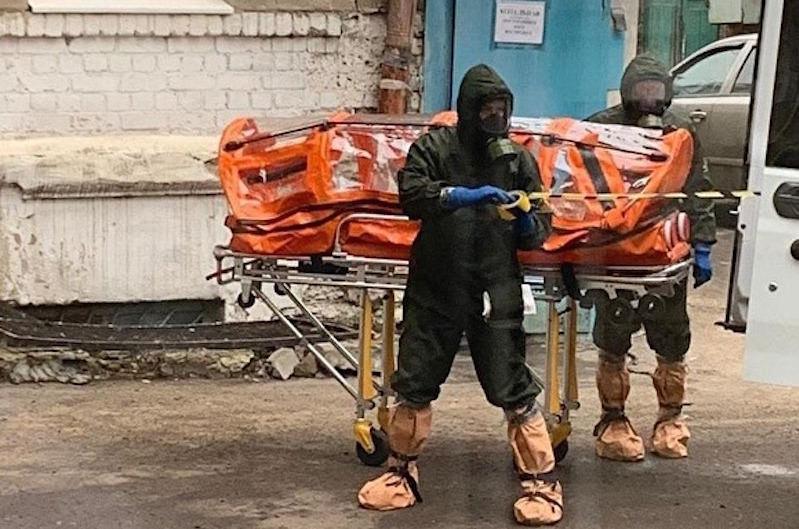 Появилось видео госпитализации в Воронеже пациента с подозрением на коронавирус