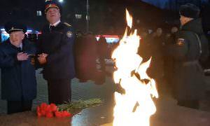 Под Смоленском устроили праздничный салют для одного ветерана