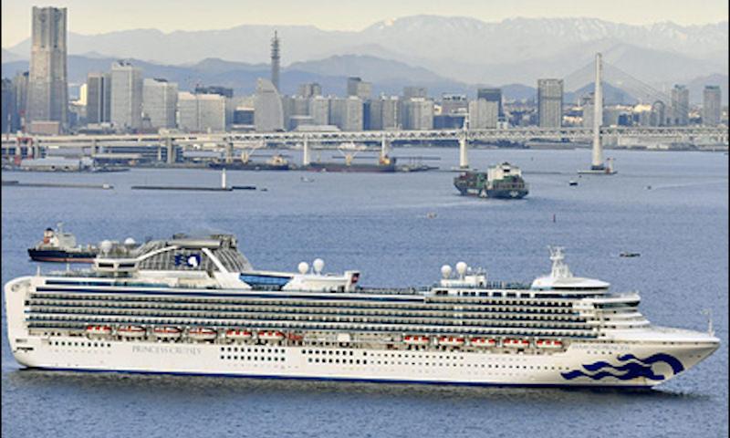 На японском круизном лайнере нашли коронавирус и двух россиян