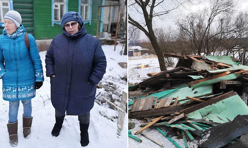 В деревне Терехово снесли дом вместе с пенсионеркой