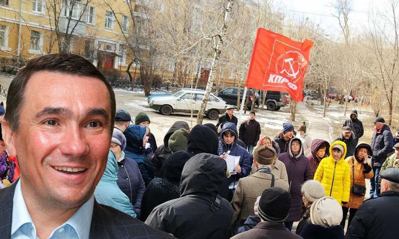 Жители Воронежа вышли на защиту сквера от строительной компании депутата-единоросса