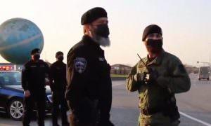 Опубликовано видео, как бойцы полка Кадырова борются с коронавирусом в Чечне